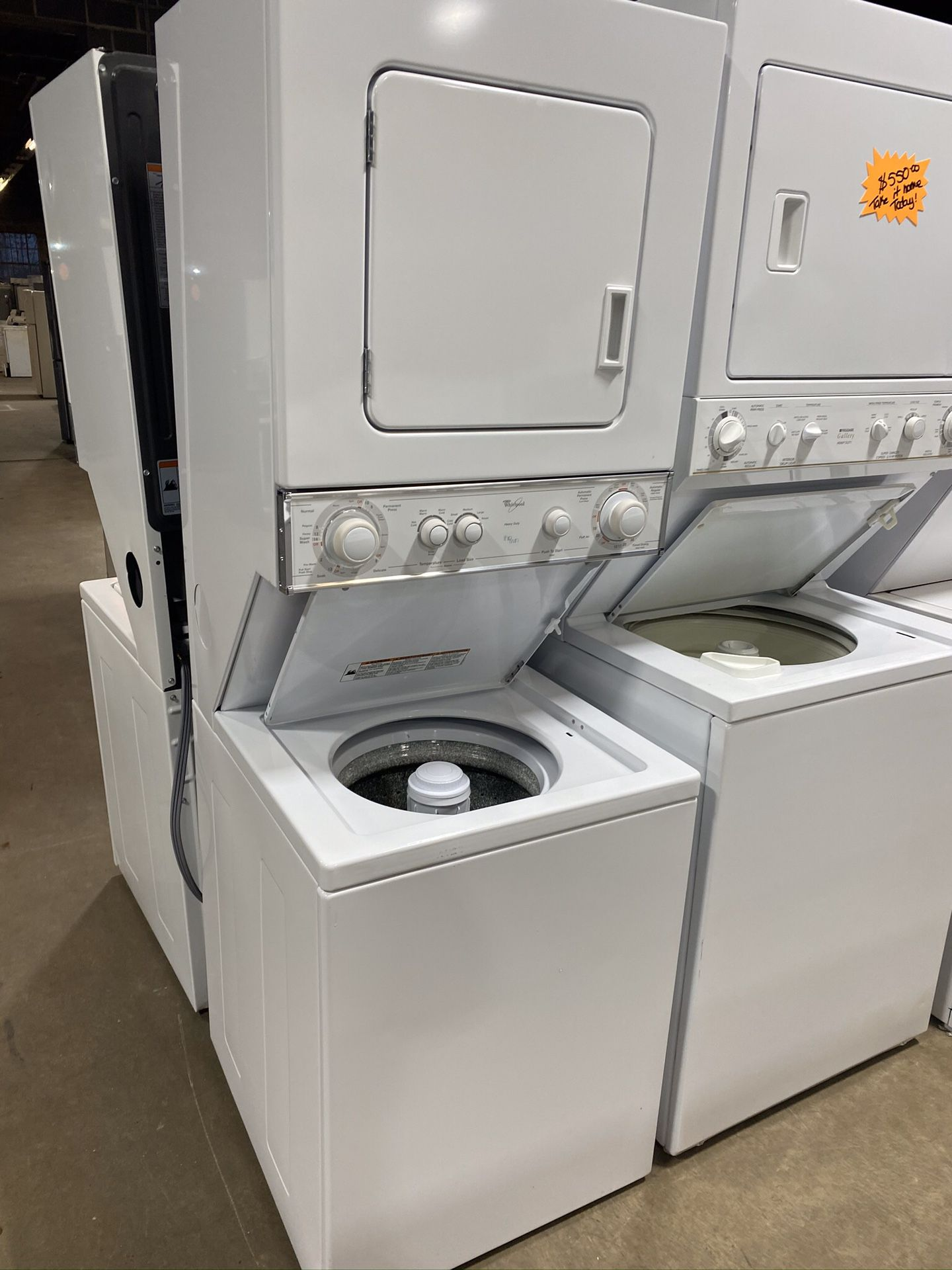"""24"""" Whirlpool stackable washer dryer unit"""