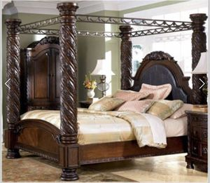 Ashley Furniture. King size bed frame for Sale in Fort Washington, MD