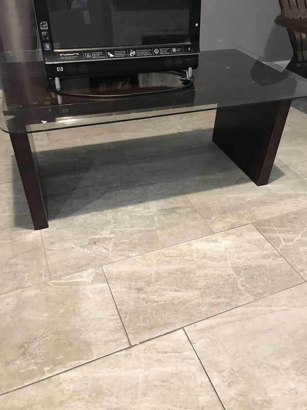 Glass coffee table and touchscreen computer furniture in for Furniture 89014