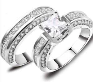 New 14 k white gold wedding ring set engagement ring for Sale in Orlando, FL