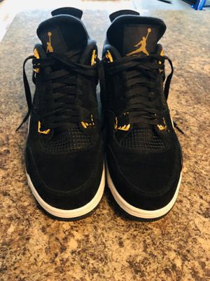 "Air Jordan 4 ""Royalty"" black/gold size 12 for Sale in Fort Belvoir, VA"