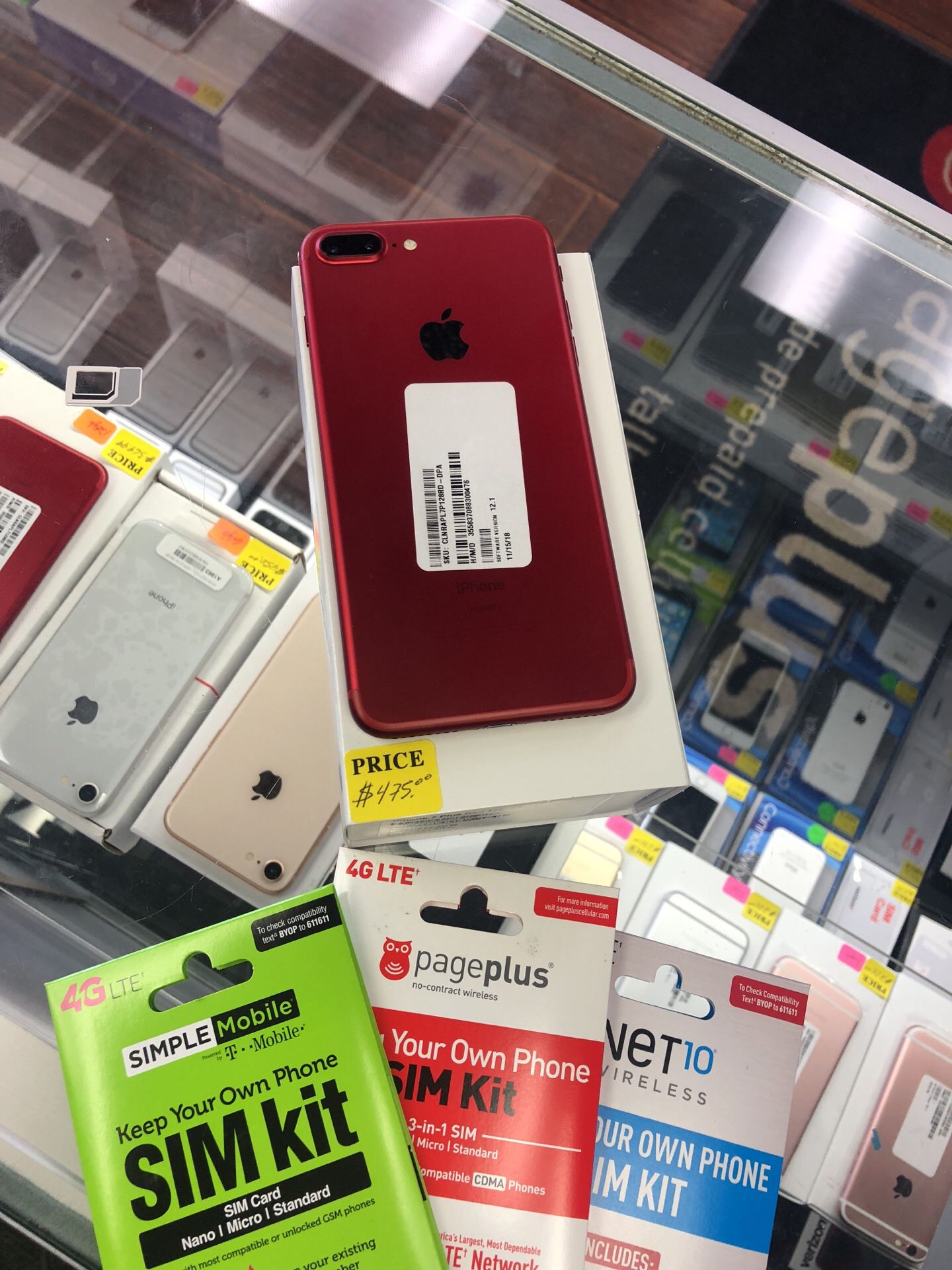 Unlocked iPhone 7 Plus 128gb product red