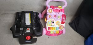 Graco click connect carseat base AND Vtech learning walker for Sale in San Diego, CA