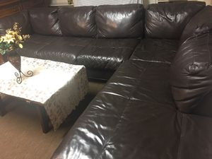 Original leather sectional couches condition as new for Sale in Manassas, VA