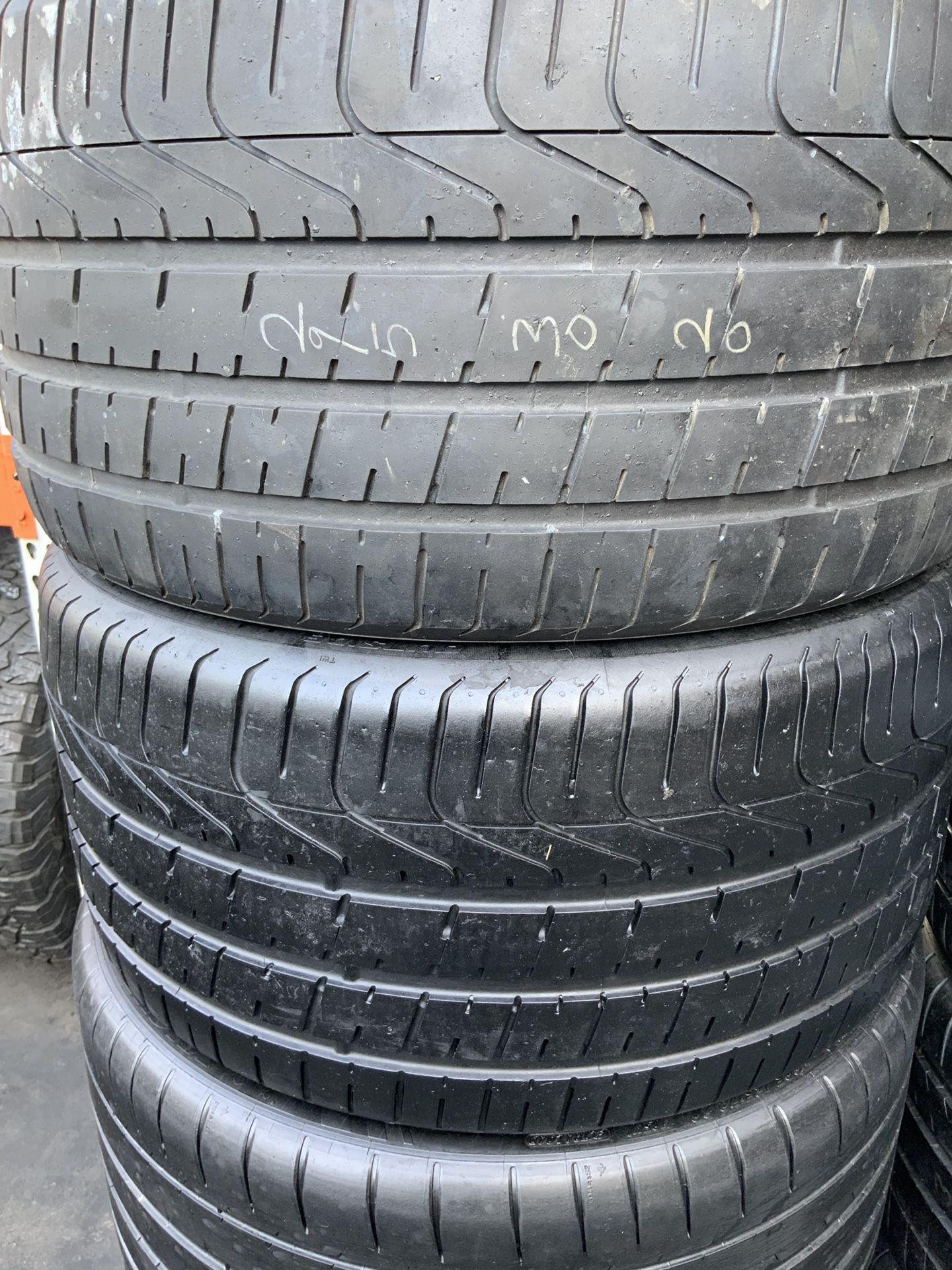 295 30 20. Pirelli tires
