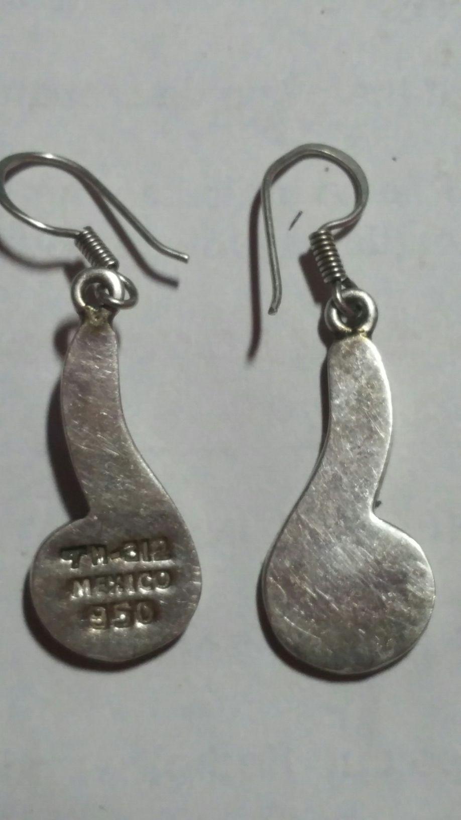Plata 950 opals Earrings