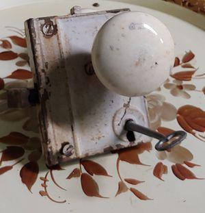 Antique Porcelain Door Knob With Key for Sale in Graham, NC