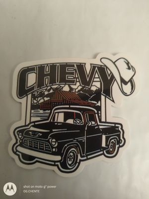 Photo NEW SMALL VINTAGE HIGH GLOSS CHEVY TRUCK SPEED SHOP HOT ROD TOOLBOX HARDHAT STICKER