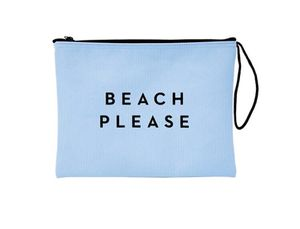 MILLY light blue pouch bag with Beach Please saying for Sale in Dallas, TX