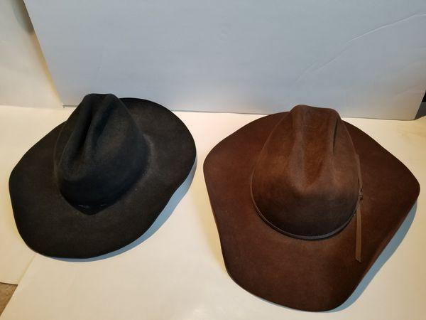 John B. Stetson Cowboy Hats size 7 Black Brown for Sale in Sammamish ... b20483aeaa0