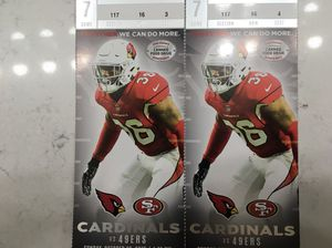 cardinals 49ers- lower level row 16 for Sale in Avondale, AZ