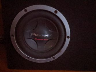 """10"""" Champion Series Pioneer Subwoofer DVC 4ohm With Custom Box Thumbnail"""