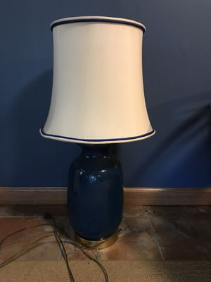 Blue lamp with shade for Sale in Glen Allen, VA