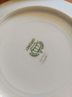 17pc Vintage Coronet Limoges France Plates handpainted Thumbnail