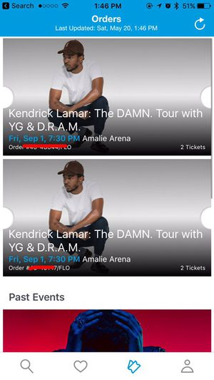 Kendrick Lamar concert tickets for Sale in Tampa, FL