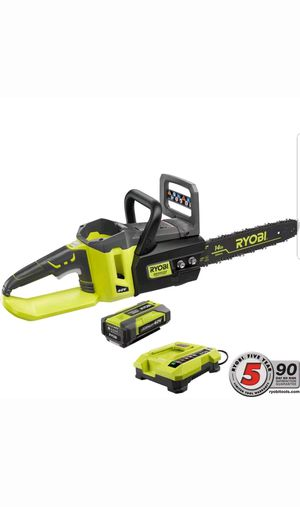 Ryobi Chainsaw 14 in.Cordless Brushless 40-V Lithium-Ion Battery Charger for Sale in UPR MARLBORO, MD