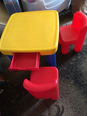 Ikea Adjustable Kids Table With Free Chairs For Sale In