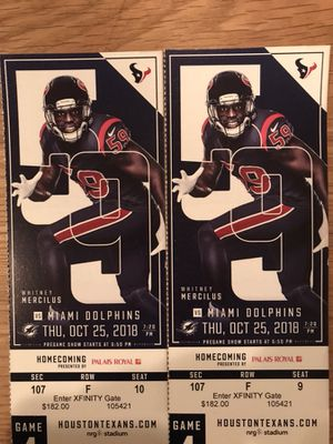 Texans vs Miami Dolphins Tickets for Sale in Houston, TX