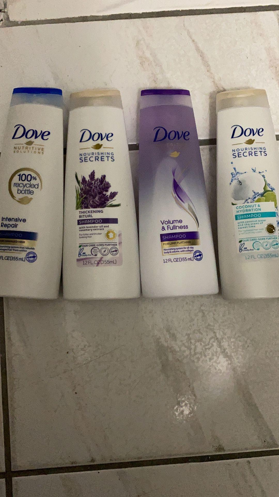 Dove shampoo y conditioner