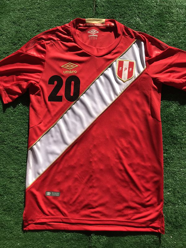 761b5e439 2018 Peru away soccer jersey Flores for Sale in Raleigh