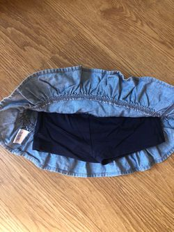 Hanna Andersson Denim Skirt With Shorts Toddler Girl Size 80 (2T) Thumbnail