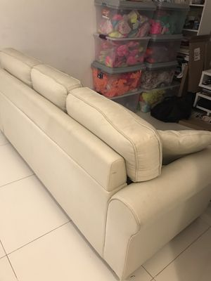 Sofa sand color ready to pick up in brickell for Sale in Miami, FL