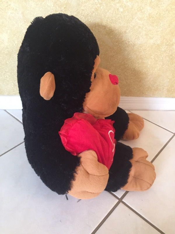 Gorilla Stuffed Animal with Valentine's Day Heart