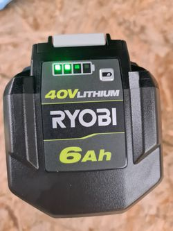 Ryobi 40V Lithium-Ion 6.0 Ah  Battery Thumbnail