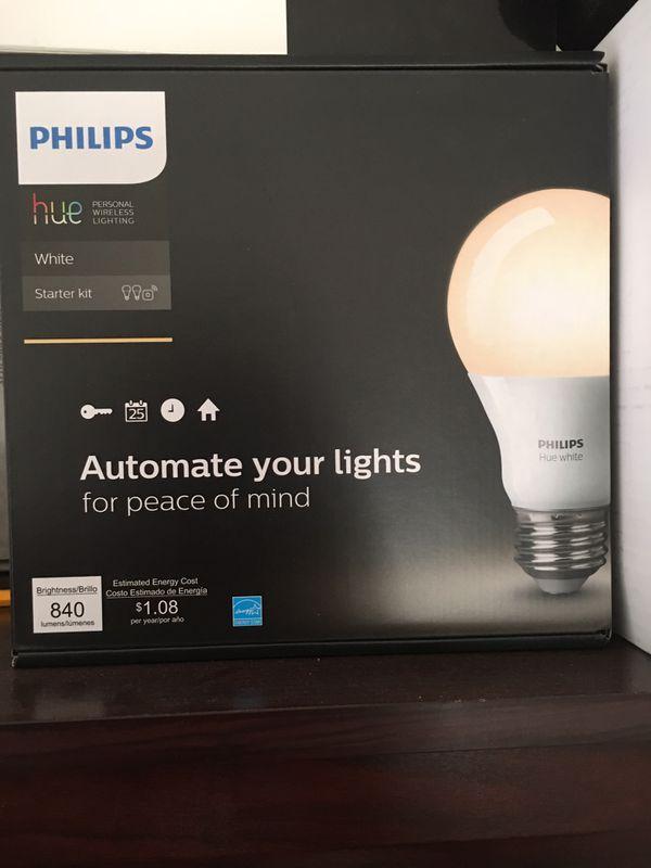 Philips Hue Starter Kit (inc  2xA19 Bulbs)  for Sale in Cupertino, CA -  OfferUp