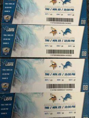 Vikings vs Lions tickets for Sale in Detroit, MI