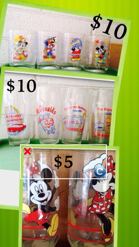 Disney McDonald's glasses