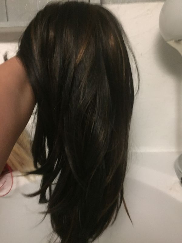 Human Hair Long Brownish Black Wig Beauty Health In Bakersfield
