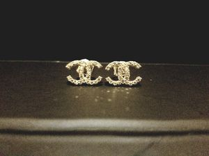 CC 10k white gold stud earrings for Sale in Orlando, FL