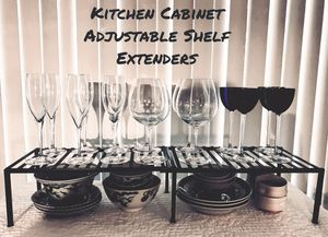 Pittsburgh, PA. Metal kitchen cabinet shelf extenders (4sets) and one countertop corner unit for Sale in