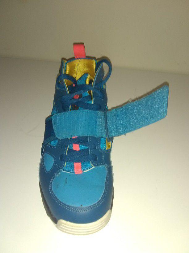 Nike air trainer hurache green abyss/blue lagoon. Size 5.5 kids