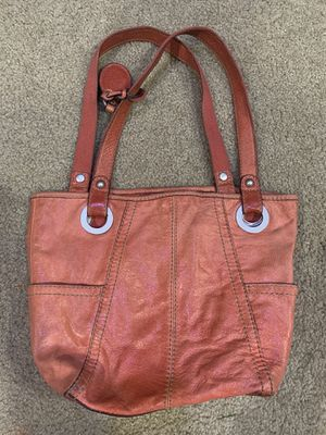 Photo Fossil big leather red handbag purse