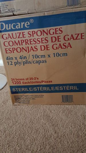 Daycare Gauze Sponges ( Sterile) 4in × 4in/ 10 cm × 10cm for Sale in Laurel, MD