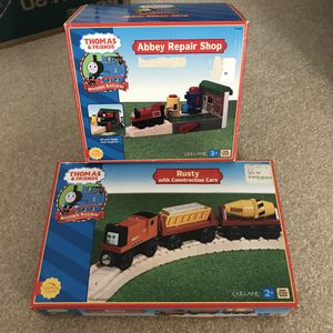 Thomas and Friends Trains wooden railroad sets in box from 2001 for Sale in Burtonsville, MD