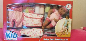 Babydoll and Stroller set for Sale in Oxon Hill, MD