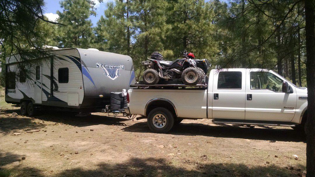 Quad rack for long bed truck