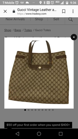 b1bec91b980 Vintage Coated Gucci Tote for Sale in Riverside