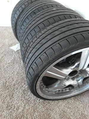 Rims and tires universal 5lugs 20 for Sale in Somers Point, NJ