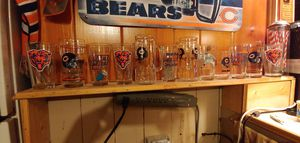 Chicago bear glass collection for Sale in Chicago, IL