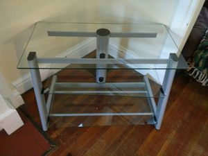 glass beautiful table perfect for flat screen TV for Sale in Denver, CO