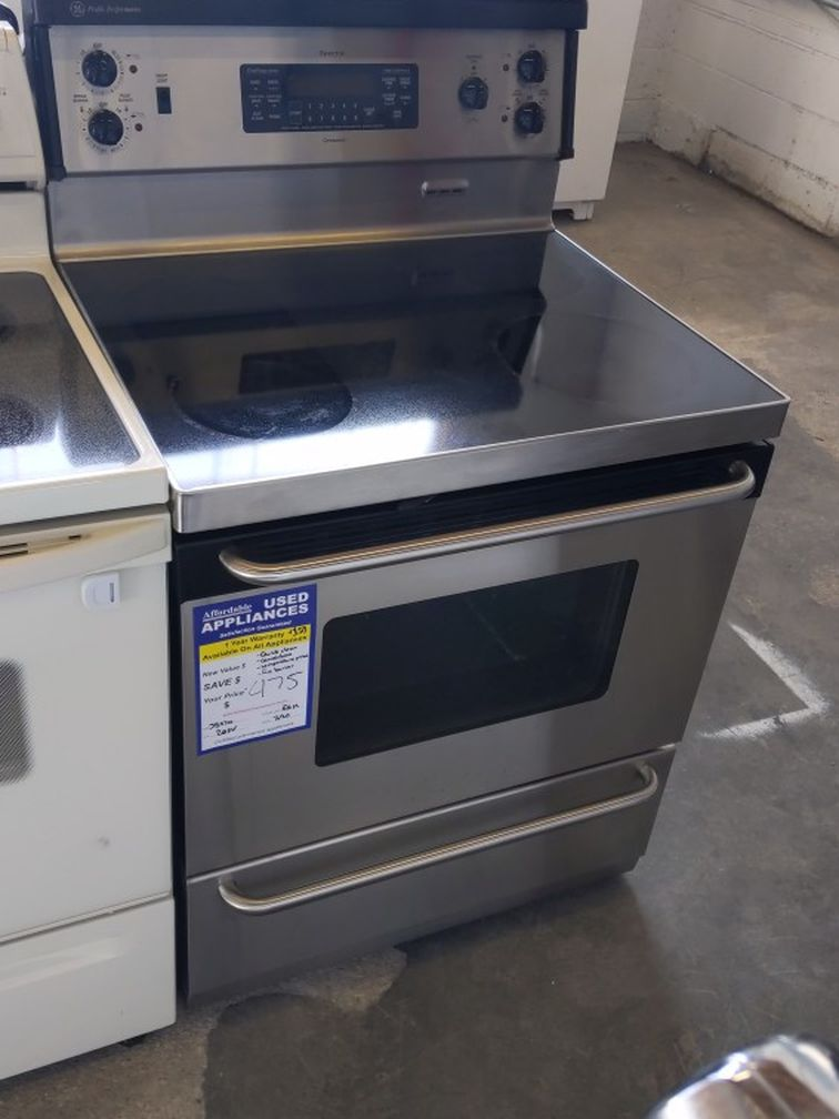 Stainless Steel Glass Top Electric Stove With Convection Oven