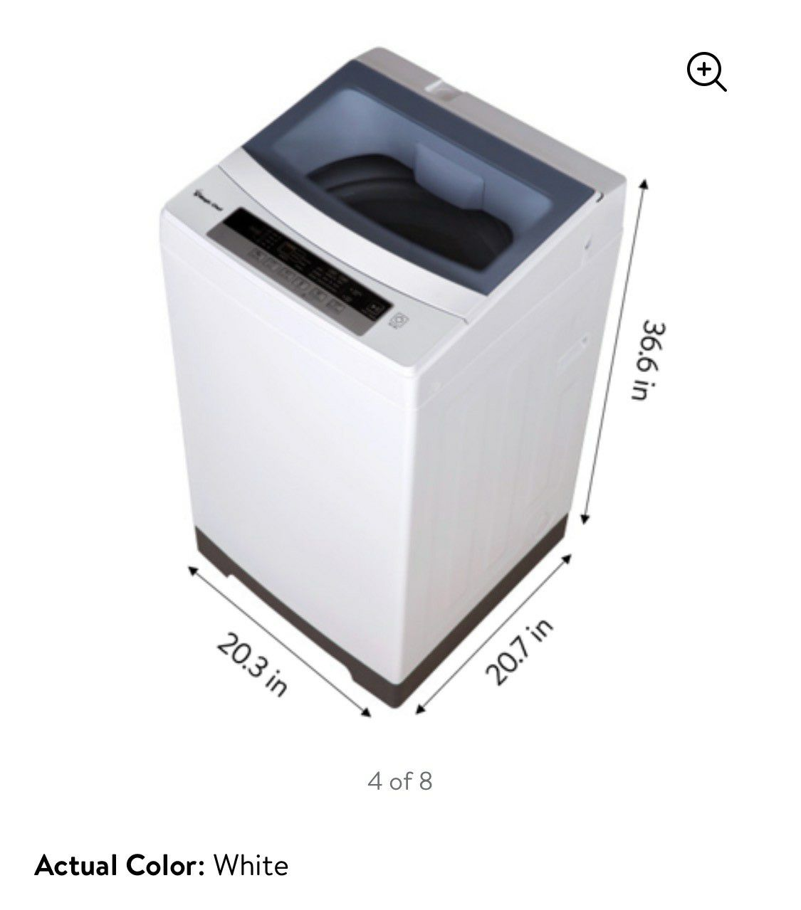 Magic chef 1.6 cu ft topload compact washer and Dryer 2.6 cu ft