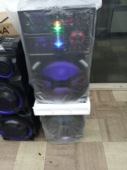Brand New Double 15s 20000 Watt Speaker Has Bluetooth Fm Am Great Sound Base Very Very Loud And Only For 320 Brand New Speaker In The Box  Thumbnail