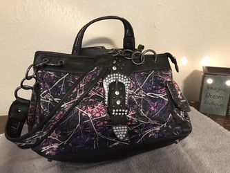 Pink camo conceal carry purse Thumbnail