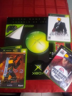 Xbox Original Bundle-with controllers cables games! for Sale in DeLand, FL
