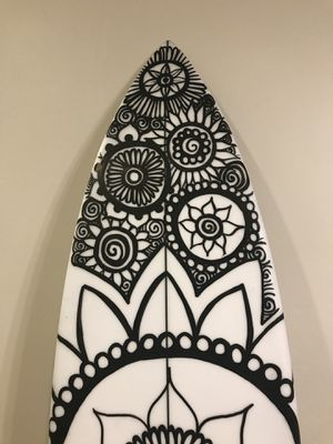 Surf board. No fins. Hand made. Hand painted with boardstix and pasca pens made for surfboards. for Sale in San Diego, CA